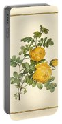 Rosa Sulfurea -yellow Rose  Vertical Portable Battery Charger