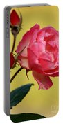 Rose And Rose Buds Portable Battery Charger