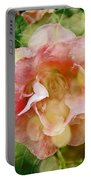 Rose Begonia In Pink Portable Battery Charger