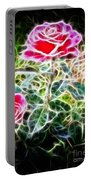 Rose Expressive Brushstrokes Portable Battery Charger