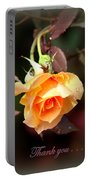 Rose - Flower - Card Portable Battery Charger