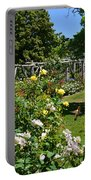 Rose Garden And Trellis Portable Battery Charger