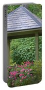 Rose Garden Gazebo Portable Battery Charger