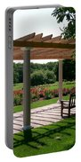 Rose Garden Retreat Portable Battery Charger