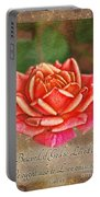 Rose Greeting Card With Verse Portable Battery Charger