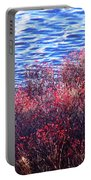 Rose Hips By The Seashore Portable Battery Charger
