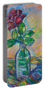 Rose In A Bottle Portable Battery Charger