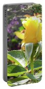 Rose In A Bubble Digital Art Portable Battery Charger