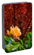 Rose In Autumn Portable Battery Charger