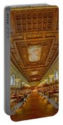 Rose Main Reading Room At The Nypl Portable Battery Charger