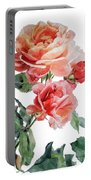 Watercolor Of Red Roses On A Stem I Call Rose Maurice Corens Portable Battery Charger