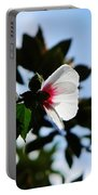 Rose Of Sharon At Dusk Portable Battery Charger