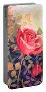 Rose On A Warm Day Portable Battery Charger