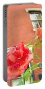 Rose On Brownstone Portable Battery Charger