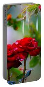 Rose Water Drops Portable Battery Charger