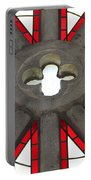 Rose Window Closeup Portable Battery Charger