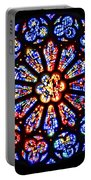 Rose Window Of Grace Cathedral By Diana Sainz Portable Battery Charger