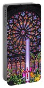 Rose Window Of St Vincent Portable Battery Charger