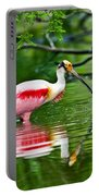Roseate Spoonbill Wading Portable Battery Charger