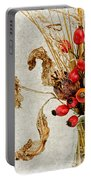 Rosehips And Grasses Portable Battery Charger
