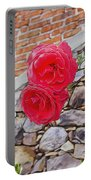 Roses Against The Wall Portable Battery Charger