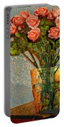 Roses And A Chinese Bowl Portable Battery Charger