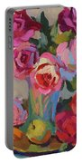 Roses And Apples Portable Battery Charger
