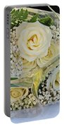 Roses And Baby Breath Portable Battery Charger