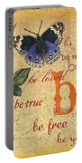 Roses And Butterflies 1 Portable Battery Charger by Debbie DeWitt