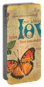 Roses And Butterflies 2 Portable Battery Charger by Debbie DeWitt