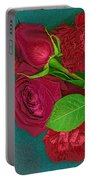 Roses And Carnations Portable Battery Charger