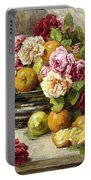 Roses And Fruit Portable Battery Charger