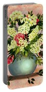 Roses And White Lilacs Portable Battery Charger