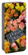 Roses At Flower Market Portable Battery Charger