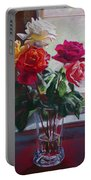 Roses By The Window Portable Battery Charger