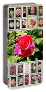 Roses Collage 2 - Painted Portable Battery Charger