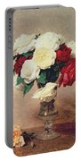 Roses In A Vase With Stem Portable Battery Charger