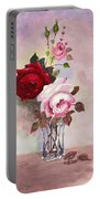 Roses In Glass Portable Battery Charger