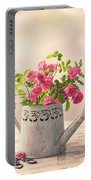 Roses In Watering Can Portable Battery Charger