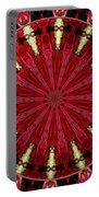 Roses Kaleidoscope Under Glass 11 Portable Battery Charger