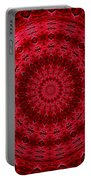 Roses Kaleidoscope Under Glass 13 Portable Battery Charger