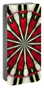 Roses Kaleidoscope Under Glass 17 Portable Battery Charger
