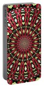Roses Kaleidoscope Under Glass 21 Portable Battery Charger