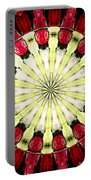 Roses Kaleidoscope Under Glass 23 Portable Battery Charger