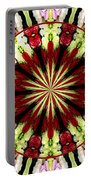 Roses Kaleidoscope Under Glass 25 Portable Battery Charger