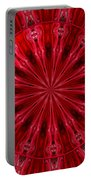 Roses Kaleidoscope Under Glass 26 Portable Battery Charger