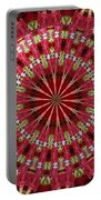 Roses Kaleidoscope Under Glass 30 Portable Battery Charger