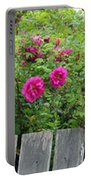 Roses On A Fence Portable Battery Charger