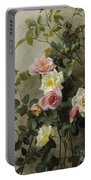 Roses On A Wall Portable Battery Charger