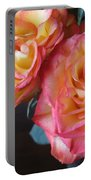 Roses On Dark Background Portable Battery Charger
